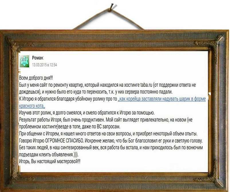 портфолио копирайтера отзыв заказчика